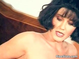 sweet mature brunette pierce her wet