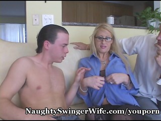 horny woman fed two penises