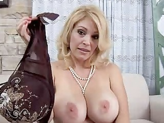 mommy with huge real chest licks penis point of