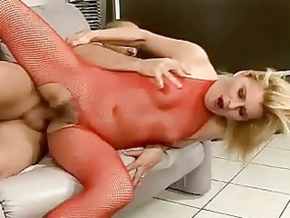 granny inside fishnet obtaining bottom fucked