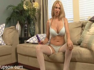 blonde milf angy playing