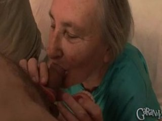 old takes out her dentures