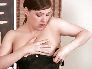 mature babe sexy striptease &; sex toy insertion