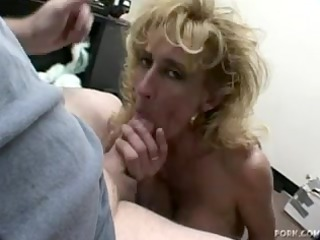 aged albino sage gives a oral-stimulation