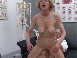 mature elderly bleached marie fucking with medic