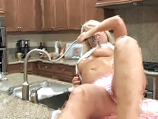 woman pushing dildo her anilos pussy
