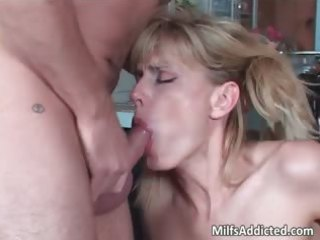 lovely bleached woman licks and rides dick part5