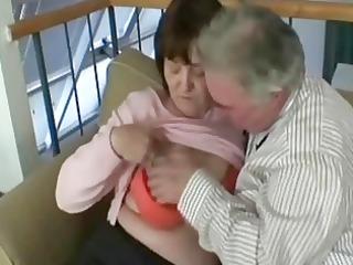granny grandfather bang this slutty elderly whore