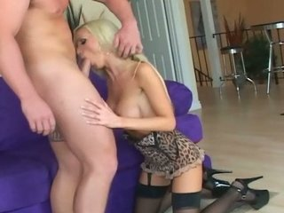 large breasted pale lady drilled in ebony nylons