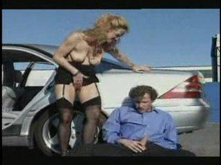 mature slut banged into the parking lot