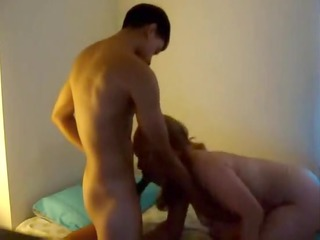 latino cougar chick fucks all over apartment