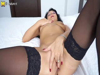 busty maiden lady masturbating with herself