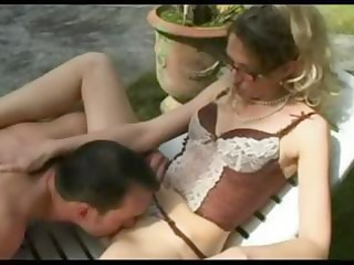 horny, grownup french angel bangs her gardener