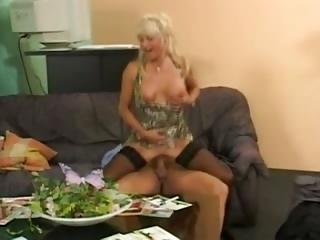 blonde grown-up german woman