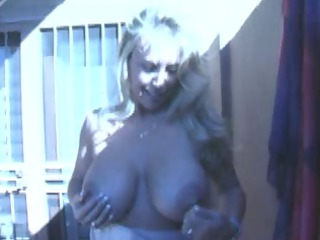 big chest older chick licks the cumshots out