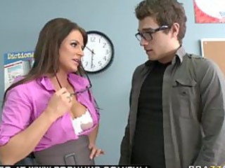 giant bossom brunette belle fuckstar teacher