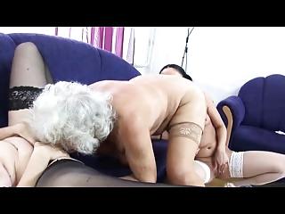 granny norma lesbian worship threesome again