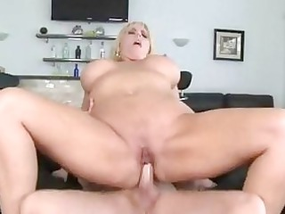 plump bleached momma with very big breast