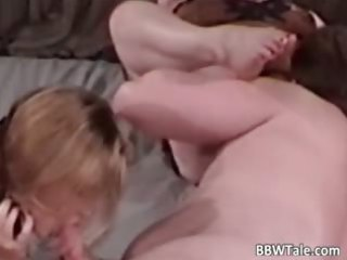 bbw grownup blondes share single large cock part2