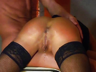 german inexperienced milf spanked and fisted by