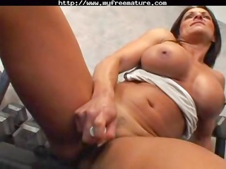 busty brunette mature kristine madison is still