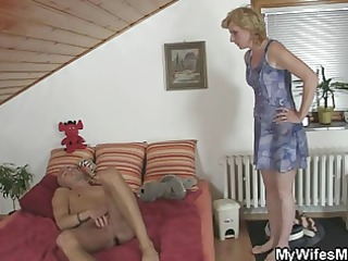 horny male screws his gfs mother