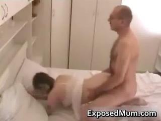 mum dressing on stockings penetrated